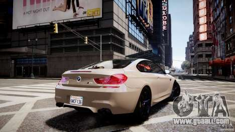 BMW M6 2013 for GTA 4 left view
