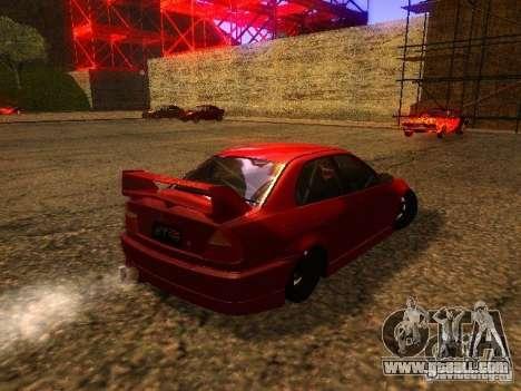 Mitsubishi Lancer Evolution VI GSR 1999 for GTA San Andreas right view