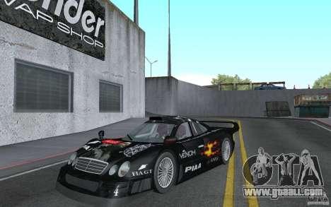 Mercedes-Benz CLK GTR road version (v2.0.0) for GTA San Andreas