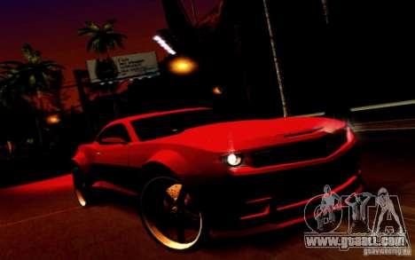 Chevrolet Camaro Tuning for GTA San Andreas back view
