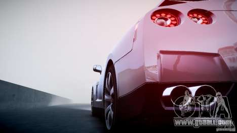 Nissan GT-R R35 V1.2 2010 for GTA 4 upper view