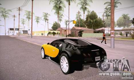 Bugatti Veyron 16.4 EB 2006 for GTA San Andreas back left view