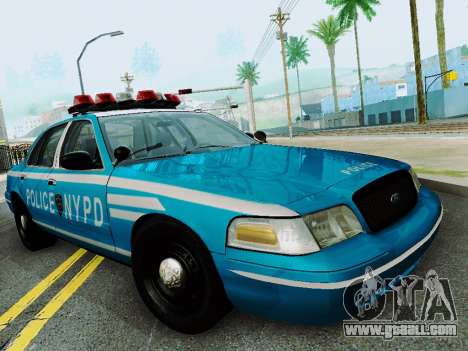 Ford Crown Victoria 2003 NYPD Blue for GTA San Andreas back view