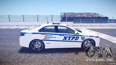 Honda Accord Type R NYPD (City Patro 1950l) ELS for GTA 4 inner view