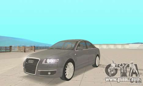 Audi A6 3.0 TDI quattro 2004 for GTA San Andreas back left view