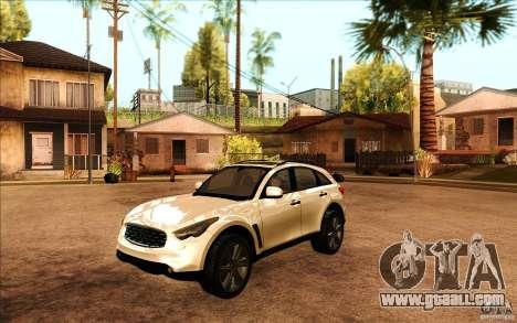 Infiniti FX50 Beta for GTA San Andreas