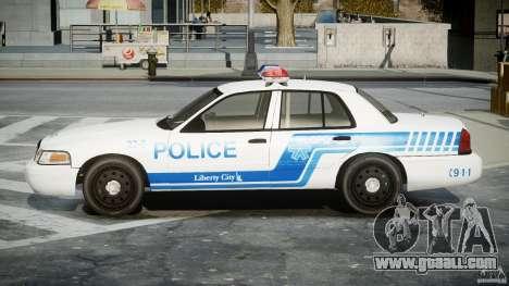 Ford Crown Victoria CVPI-V4.4M [ELS] for GTA 4 left view