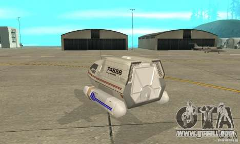 Shuttle-NCC-74656 for GTA San Andreas back left view
