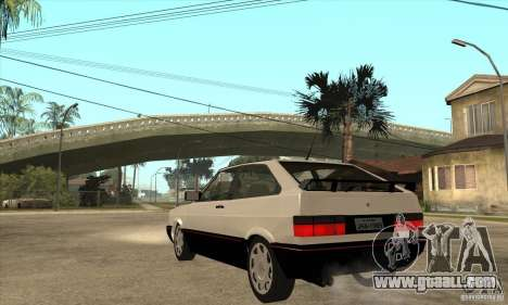 VW Gol GTS 1989 for GTA San Andreas back left view