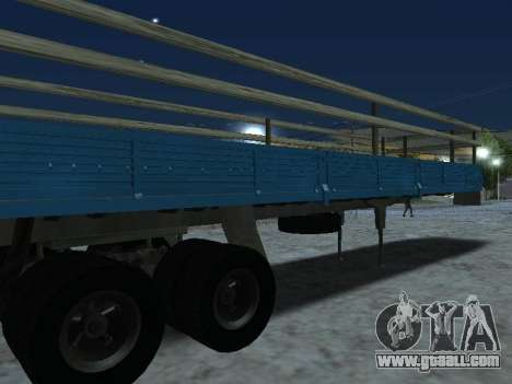Trailer for Kamaz 5410 for GTA San Andreas right view