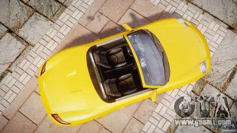 Porsche Boxster S for GTA 4 right view