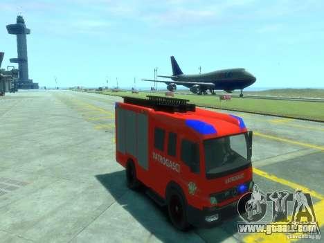 Mercedes-Benz Atego Fire Departament for GTA 4 back view