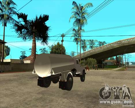Gaz-52 fuel truck for GTA San Andreas back left view