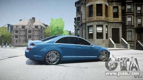 Mercedes Benz w221 s500 v1.0 sl 65 amg wheels for GTA 4 left view