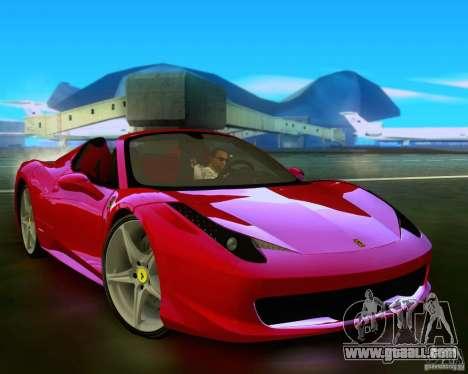 Ferrari 458 Spider for GTA San Andreas