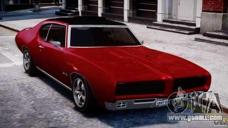 Pontiac GTO 1965 v1.1 for GTA 4 back view