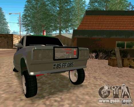 VAZ 2107 Full for GTA San Andreas back view