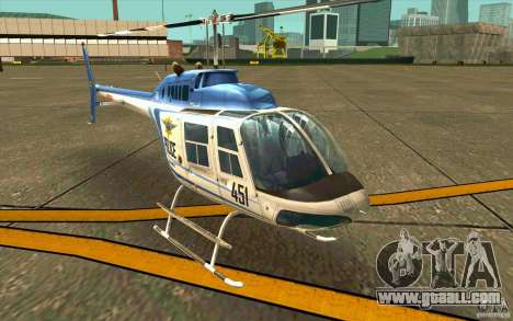 Bell 206 B Police texture1 for GTA San Andreas left view
