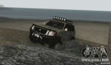 Toyota Land Cruiser 100 Off Road for GTA San Andreas side view