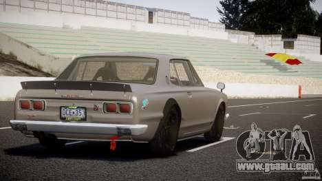 Nissan Skyline Hakosuka (KPGC10) Mountain Drift for GTA 4 upper view