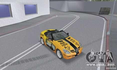 Mercedes-Benz SLK 350 for GTA San Andreas wheels