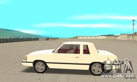 Dodge Aries 1983 for GTA San Andreas left view