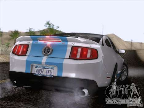 Ford Shelby Mustang GT500 2010 for GTA San Andreas engine