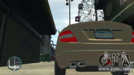 Mercedes-Benz C63 for GTA 4 back view