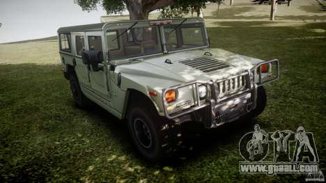 Hummer H1 Original for GTA 4 inner view