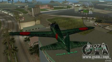 Zero Fighter Plane for GTA Vice City side view