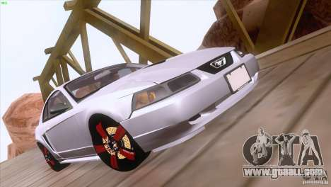 Ford Mustang GT 1999 for GTA San Andreas upper view