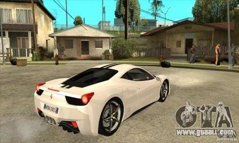 Ferrari 458 Italia 2010 v2.0 for GTA San Andreas right view