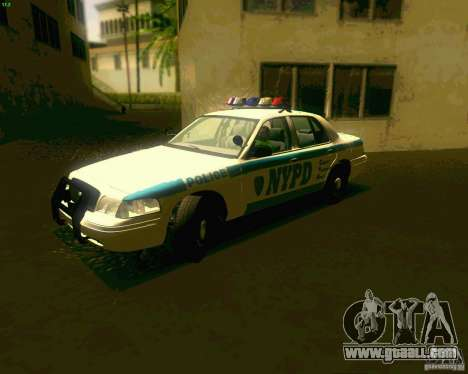 Ford Crown Victoria 2003 NYPD police for GTA San Andreas left view