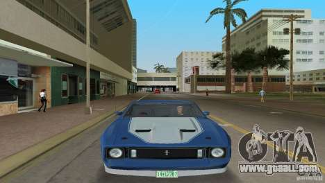 Ford Mustang 1973 for GTA Vice City back left view