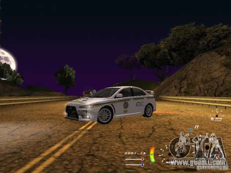 Mitsubishi Lancer Evolution X DPS for GTA San Andreas