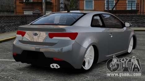 Kia Cerato Koup Edit for GTA 4 back left view