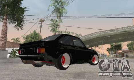 Ford Escort Mk2 for GTA San Andreas back view