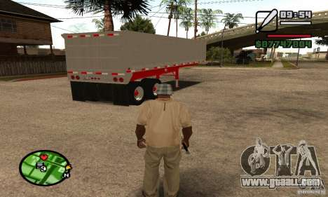 Artict3 Dump Trailer for GTA San Andreas back view