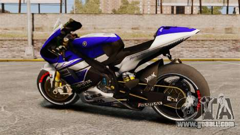 Yamaha YZR-M1 for GTA 4 left view