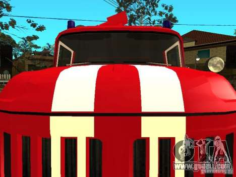 ZIL 131 fire for GTA San Andreas left view