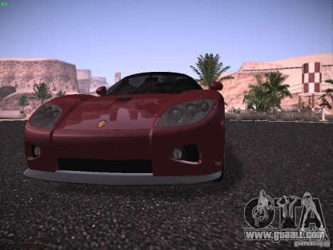 Koenigsegg CCX 2006 for GTA San Andreas bottom view