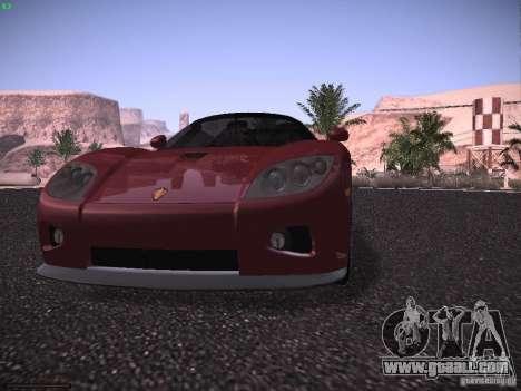Koenigsegg CCX 2006 for GTA San Andreas bottom view