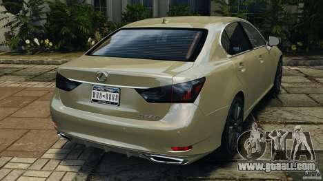 Lexus GS350 2013 v1.0 for GTA 4 back left view