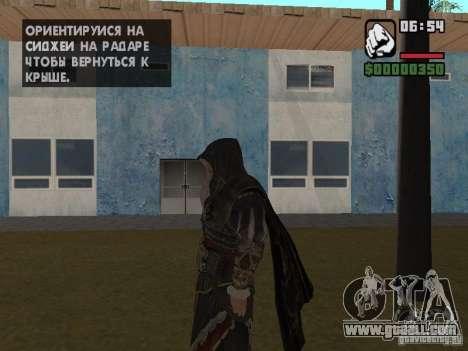 Ezio auditore in armor of Altair for GTA San Andreas second screenshot