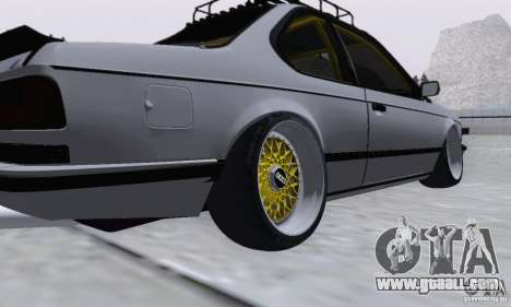 BMW M635CSi Stanced for GTA San Andreas back left view