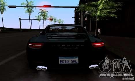 Porsche 911 Carrera S for GTA San Andreas upper view