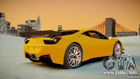 Ferrari 458 Challenge 2011 for GTA 4 back view