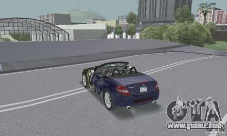 Mercedes-Benz SLK 350 for GTA San Andreas bottom view