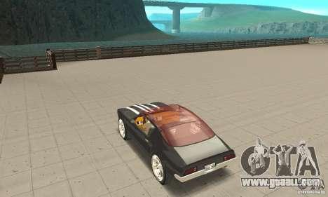 Pontiac Flamingo for GTA San Andreas back left view