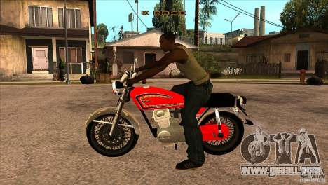 Honda CB 125 for GTA San Andreas left view